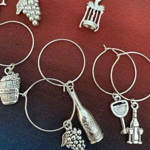 EdenDesign Jewelry Dining - Silver handmade wine charms
